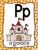 Alphabet Posters-Polka Dots-ENGLISH Version with Picture and Words