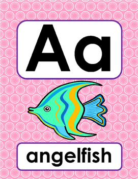 Alphabet Posters Pretty as a Peacock