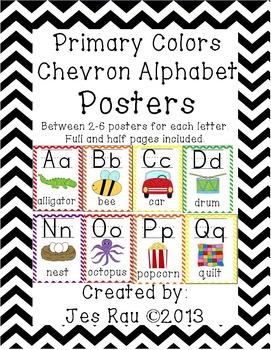 Alphabet Posters Primary Chevron