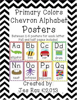 Alphabet Posters Primary Chevron