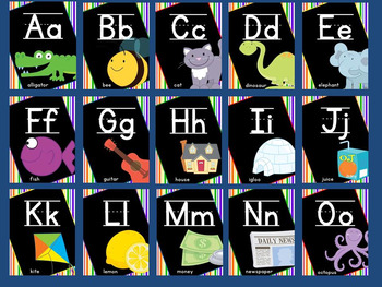 Alphabet Posters - Primary Colors
