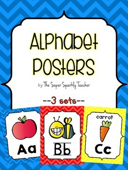 Alphabet Posters {Primary Colors}