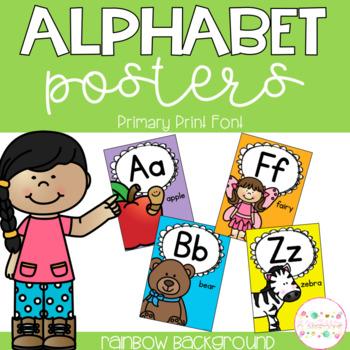 Alphabet Posters - Primary Print Font