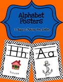 Alphabet Posters Print-Lined {Black Polka-Dots}