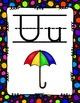 Alphabet Posters Print-Lined {Black Rainbow Polka-Dots}