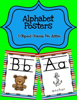 Alphabet Posters Print-Lined {Striped}