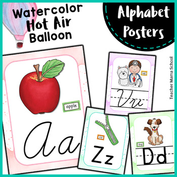 EDITABLE Alphabet Posters | Print & Cursive in Lined & Unlined Letters