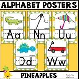 Alphabet Posters Print Pineapple Theme
