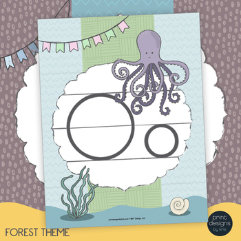 Alphabet Posters, Print Posters, Forest Theme - Classroom Decor