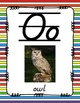 Alphabet Posters D'Nealian (Lined with Stripes)