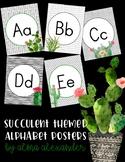 Alphabet Posters - Print - Succulents
