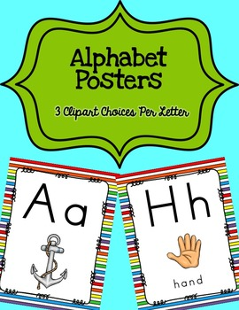 Alphabet Posters Print-Unlined {Striped}