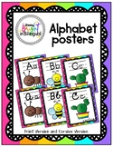 Brilliantly Colored Alphabet Posters - Cursive and Print