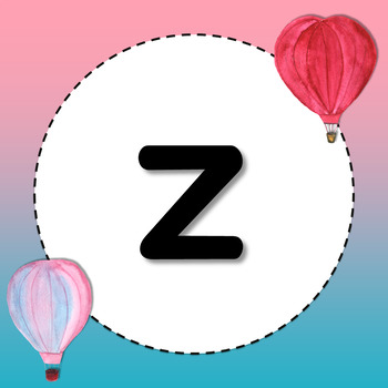 EDITABLE Alphabet Posters (Print) in Watercolor Hot Air Balloon Theme