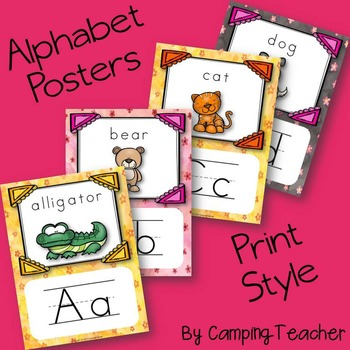 Alphabet Posters Print with Animals