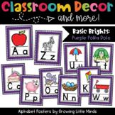Alphabet Posters- Purple Polka Dots