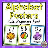 Alphabet Posters - QLD Beginners Font