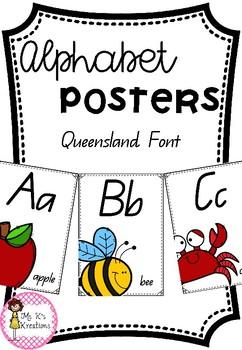 Alphabet Posters - QLD Font
