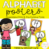 Alphabet Posters - Queensland Print and Pre-Cursive Fonts