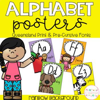 Alphabet Posters - Queensland Print and Pre-Cursive Fonts