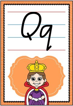 Alphabet Posters - Queensland Script