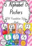 Alphabet Posters Rainbow Chevron - New South Wales Foundation Print