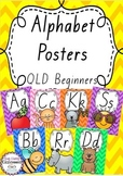 Alphabet Posters Rainbow Chevron - Queensland Beginners Font