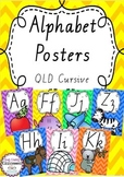 Alphabet Posters Rainbow Chevron - Queensland Cursive