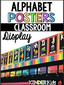 Alphabet Posters Rainbow Edition
