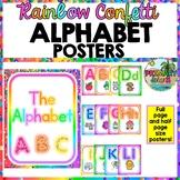 Rainbow Alphabet Letters Posters