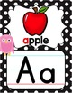 Alphabet Posters - Rainbow Owl with Black & White Polka Dots