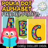 #christmasinjuly Alphabet Posters - Rainbow Polka Dot ABC Pennants #freedomdeals