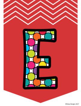 Alphabet Posters - Rainbow Polka Dot ABC Pennants