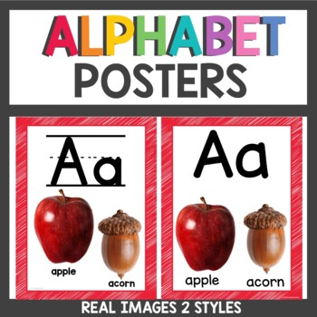 Alphabet Posters Rainbow Scribble Real Photos