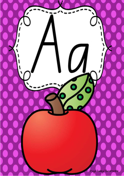 Alphabet Posters Rainbow Spotty - New South Wales Foundation Print