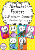 Alphabet Posters Rainbow Spotty - Queensland Cursive