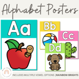 Alphabet Posters {Rainbow Classroom Decor}