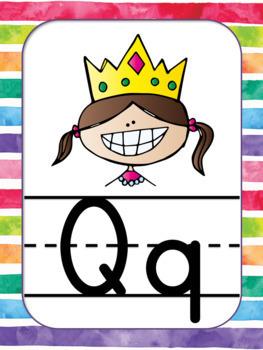 Alphabet Posters Rainbow Theme