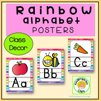 Alphabet Posters Rainbow Theme