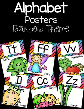 Alphabet Posters - Rainbow Theme