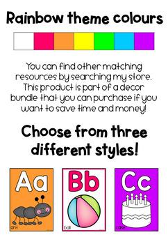 Alphabet Posters (Rainbow Theme)
