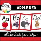 Alphabet Posters: Red   Classroom Decor