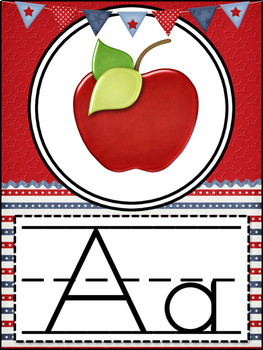 Alphabet Posters (Red, White, and Blue)