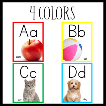 Alphabet Posters (Red, Yellow, Green, Blue)