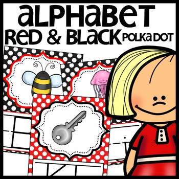 Alphabet Posters (Red and Black Polka Dot themed)