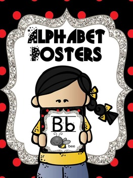 Alphabet Posters - Red and Black Polka Dots/ Ladybug Theme