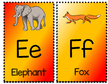 Alphabet Posters - Red and Gold - KG MS Kindergarten Font