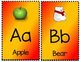 Alphabet Posters - Red and Gold - KG MS Kindergarten Font