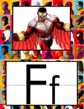Alphabet Posters Retro Superhero Theme