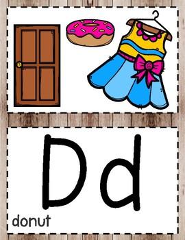 Alphabet Posters (Rustic)